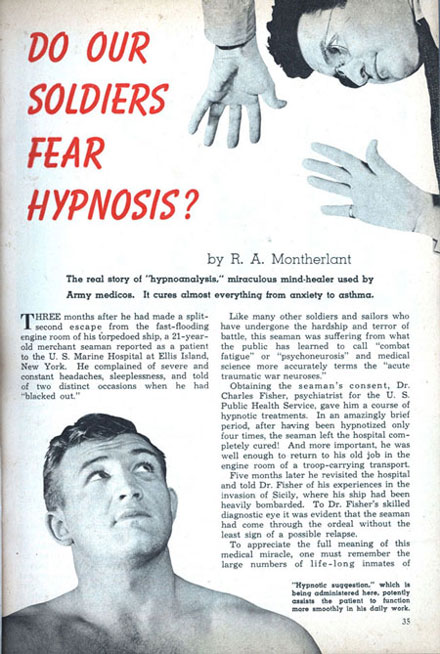 Do Our Soldiers Fear Hypnosis?